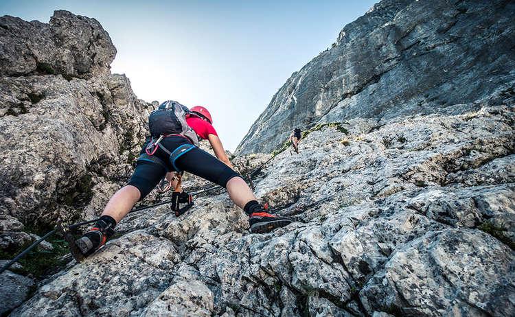 Klettersteig In English : Pidinger klettersteig auf den hochstaufen