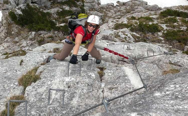 Pidinger Klettersteig Wand