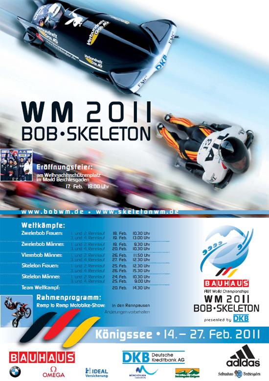 Plakat über die WM Bob Skeleton