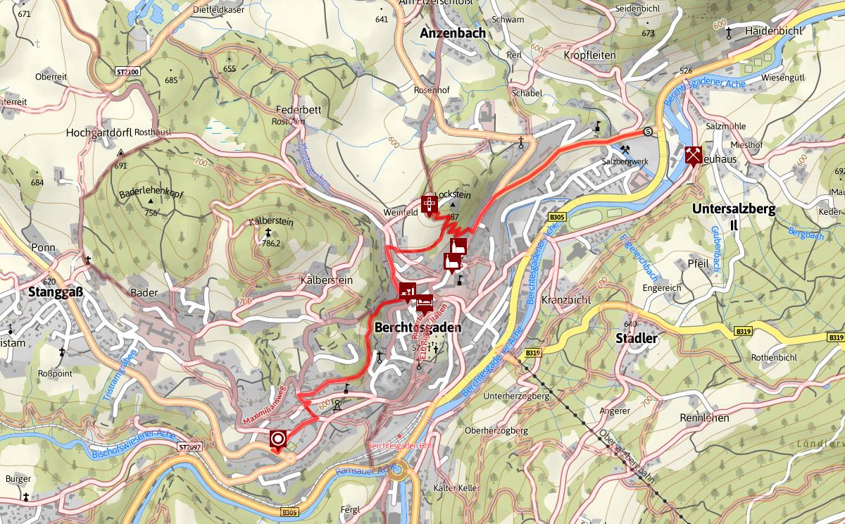 Plan Soleleitungsweg Berchtesgaden
