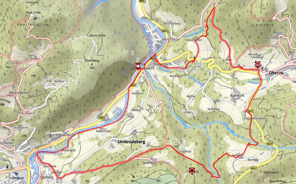 Plan Stollenweg Berchtesgaden