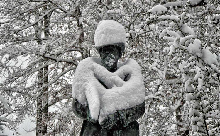 Prinzregent Luitpold Denkmal Luitpoldpark Berchtesgaden Schnee