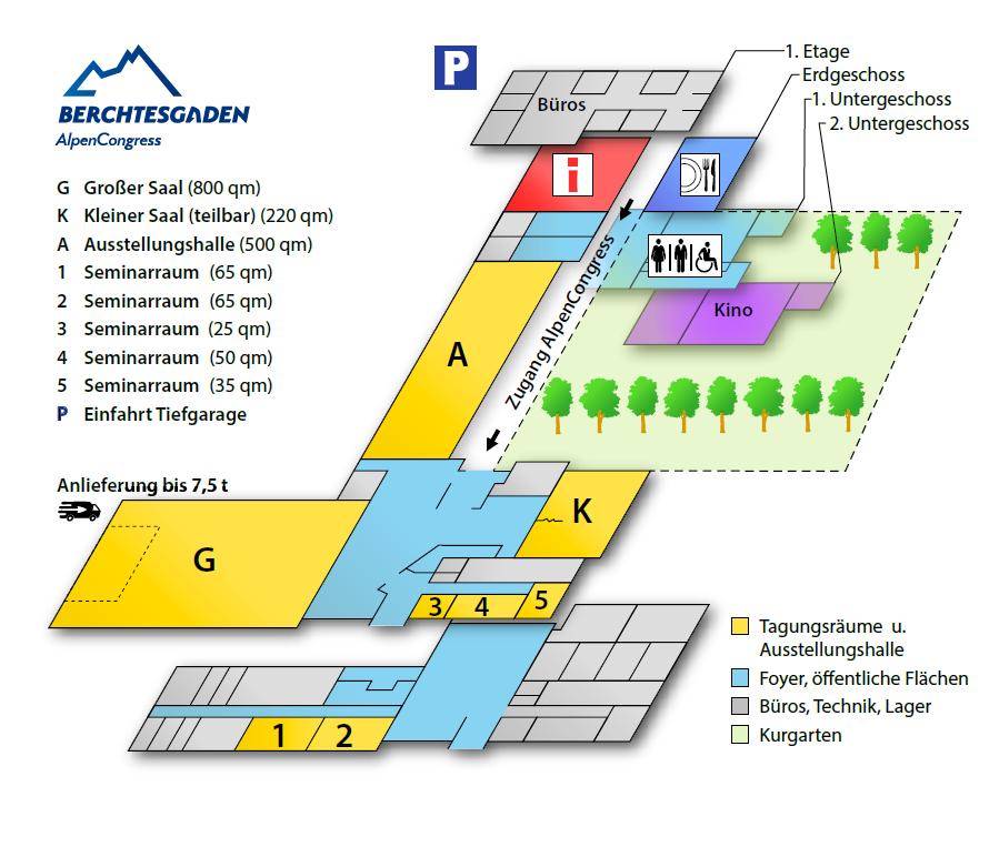 Raumplan Kongresshaus Berchtesgaden