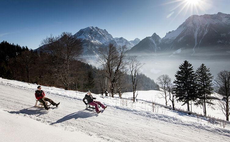 Schlittenfahren Rodeln Berchtesgaden