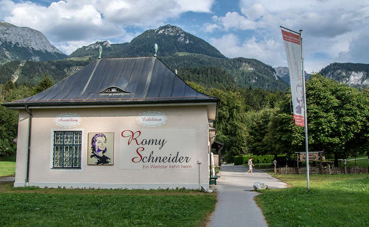 Near lake Königssee: Romy Schneider Exhibition
