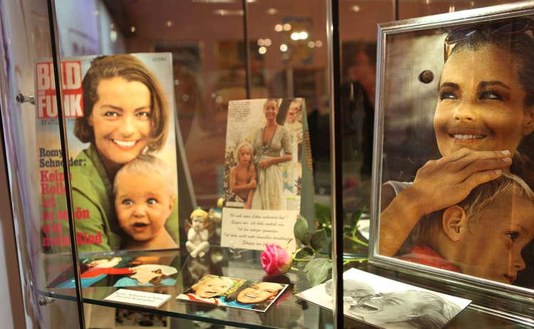 Romy Schneider Vitrineausstellung