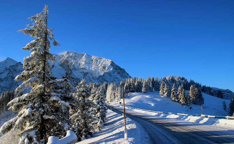 Rossfeld Panoramastraße im Winter