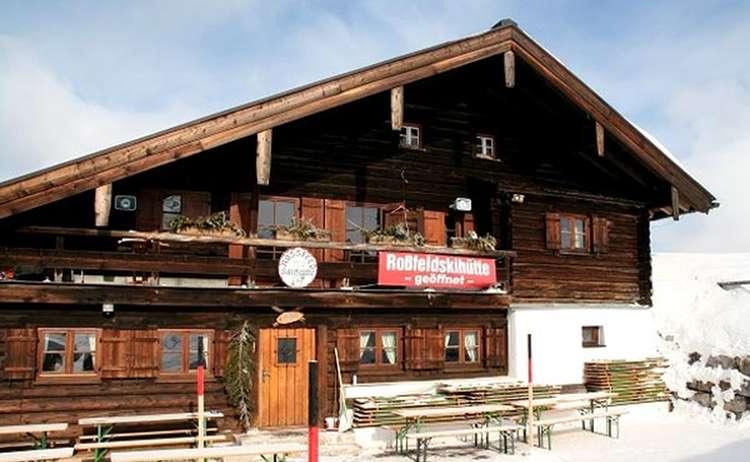 Winter an der Roßfeld Skihütte