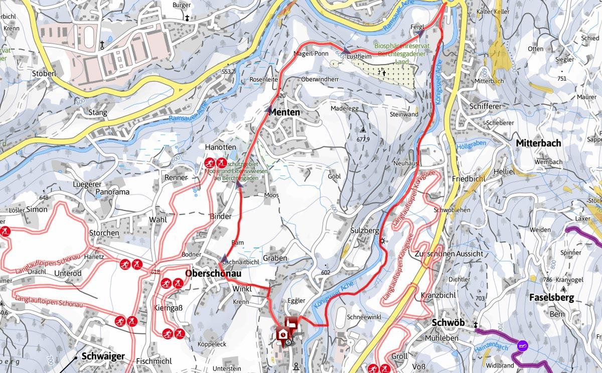 Winterwanderung Rundtour Schönau am Königssee