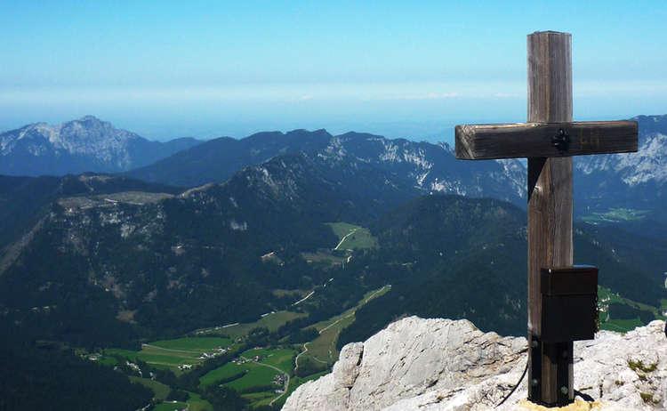 Gipfelkreuz auf der Schärtenspitze