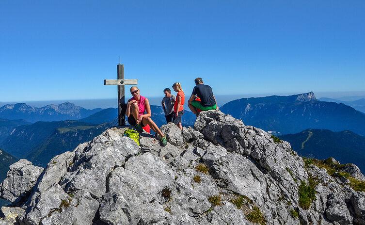 Am Gipfel der Schärtenspitze