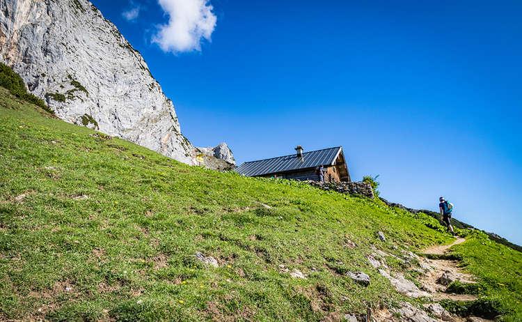 Scheibenkaser Hochthron Klettersteig