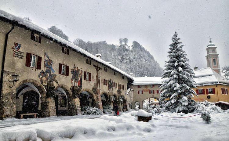 Schlossarkaden Berchtesgaden Winter
