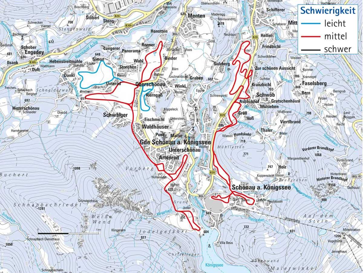 Langlaufloipe Schönau am Königssee