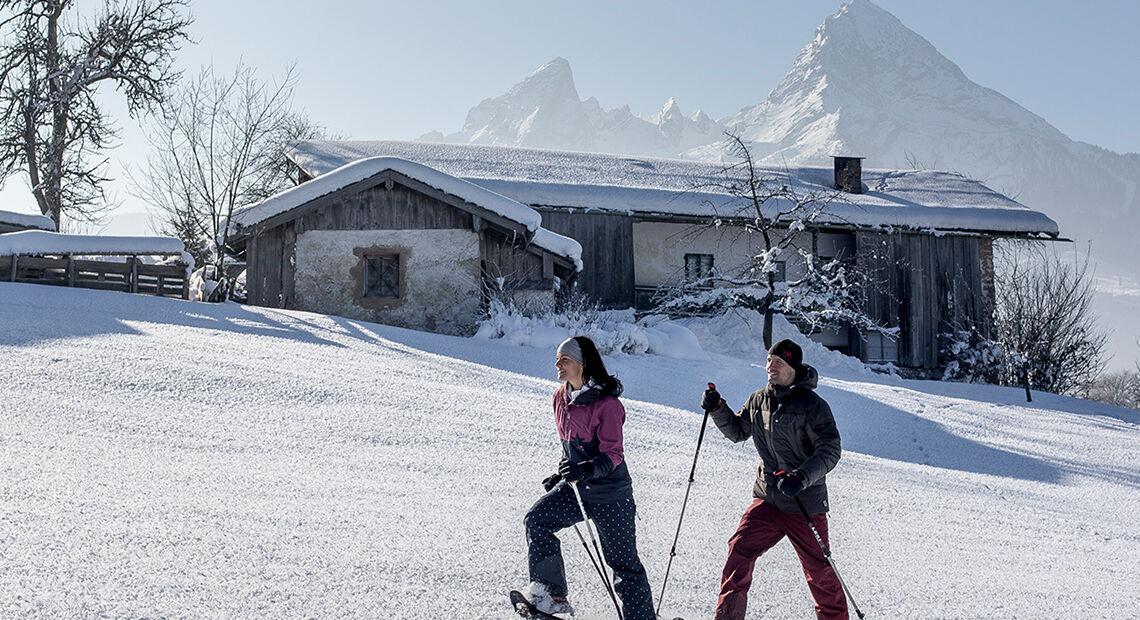 Schneeschuhwandern Berchtesgaden Winter