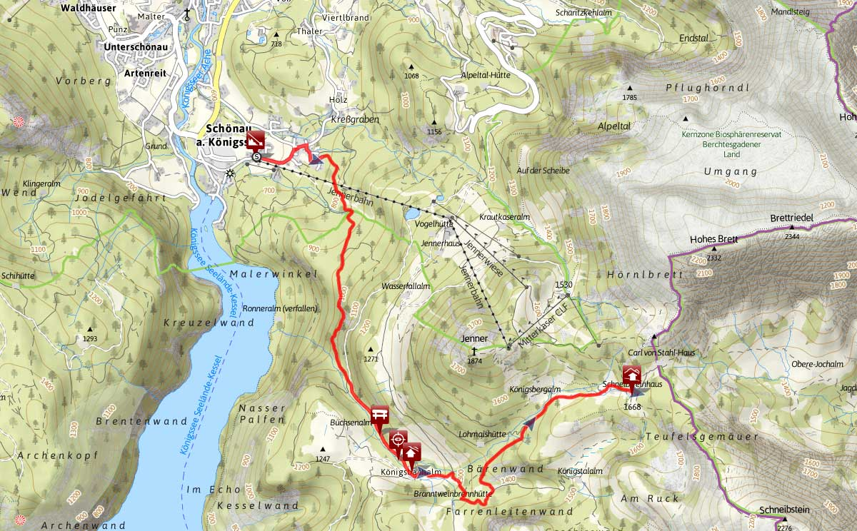 Bergtour aufs Schneibsteinhaus von Königssee über Hochbahn