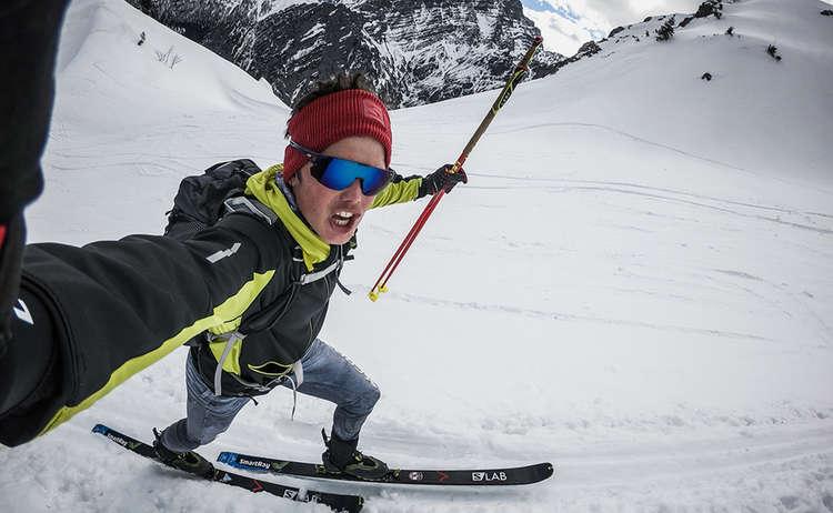 Philipp Reiter bei einer Skitour