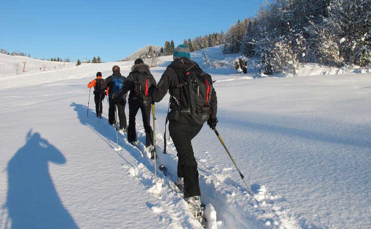 Skibergsteigen im Skitourenpark lernen