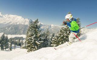 Skigebiet Hochschwarzeck Kind Skifahren