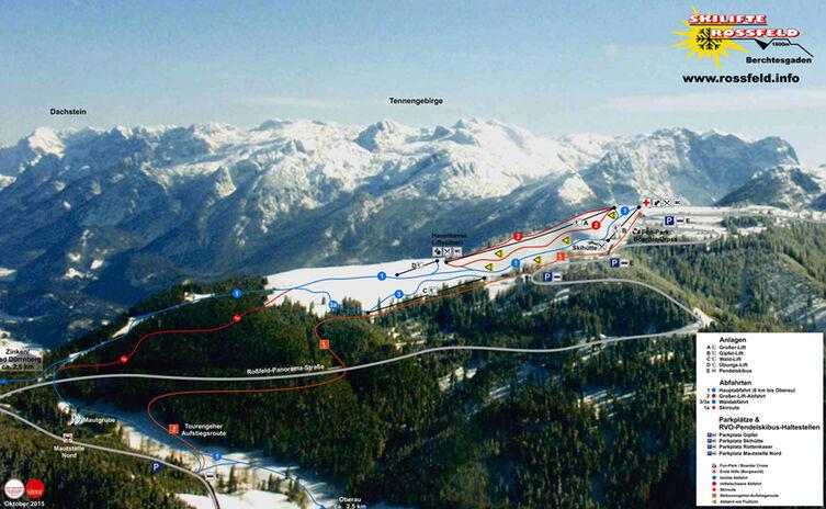 Skigebiet Rossfeld Panorama Karte 1