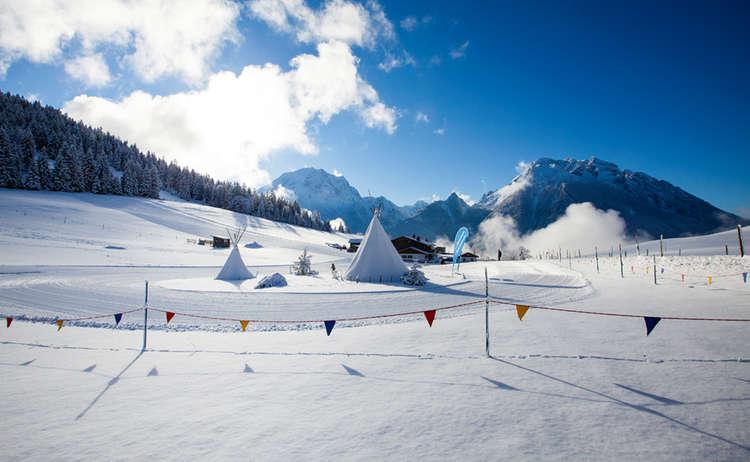 Skischule am Hochschwarzeck im Bergsteigerdorf Ramsau
