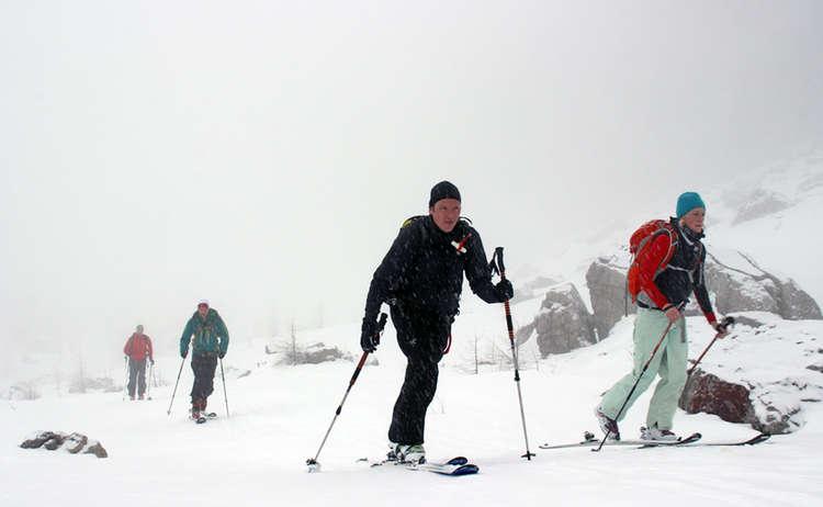 Skitour Im Nebel