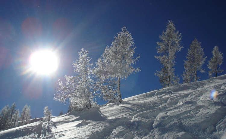 Skitourengehen im tiefstem Winter