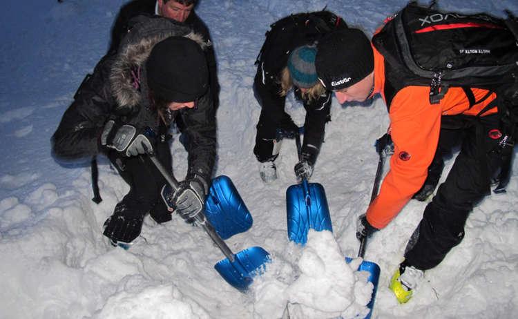 Im Skitourenpark bei der Lawinenausbildung