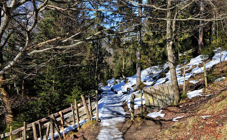 Soleleitung Ramsau Winterwandern Aper