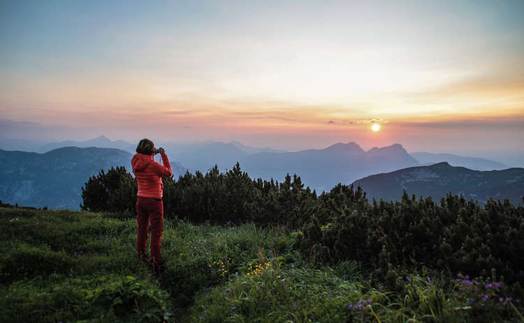Sonnenuntergang auf dem Untersberg