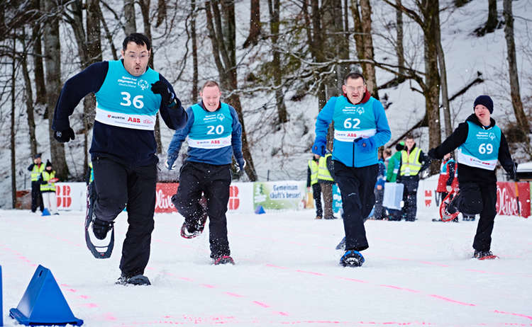 Schneeschuhlauf Special Olympics