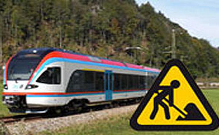 Streckensperre Bahn