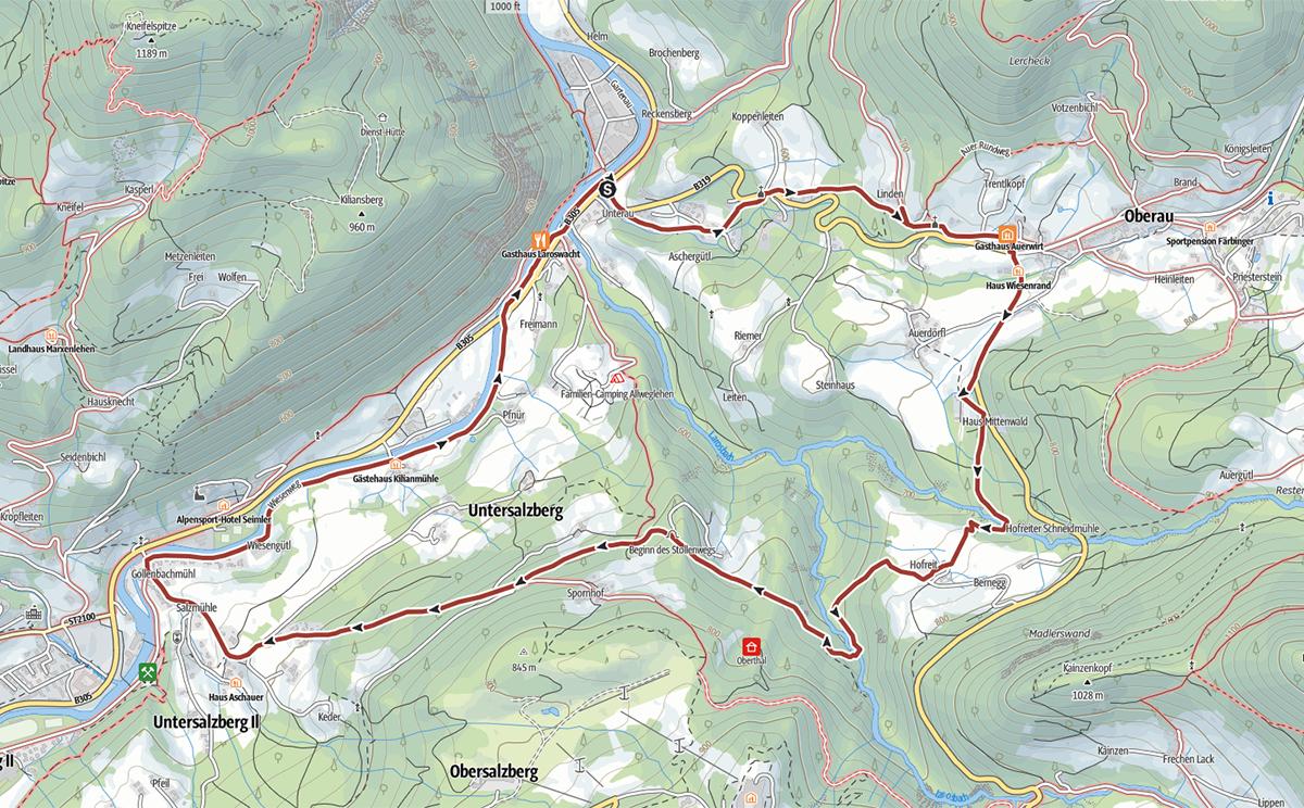 Stollenweg Berchtesgaden Topo