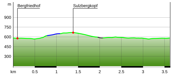 Höhenprofil Sulzbergkopf Wanderung