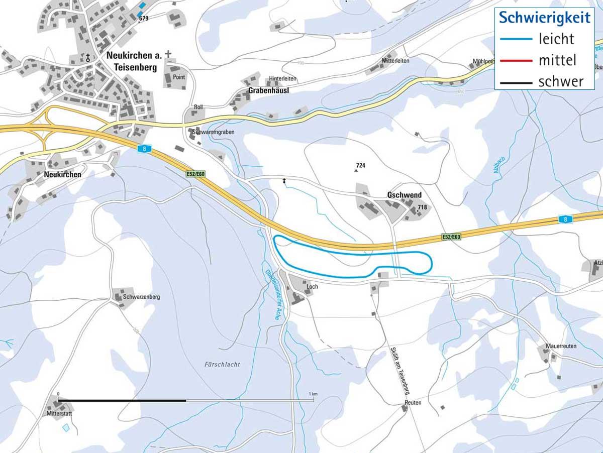 Langlaufloipe Neukirchen in Teisendorf
