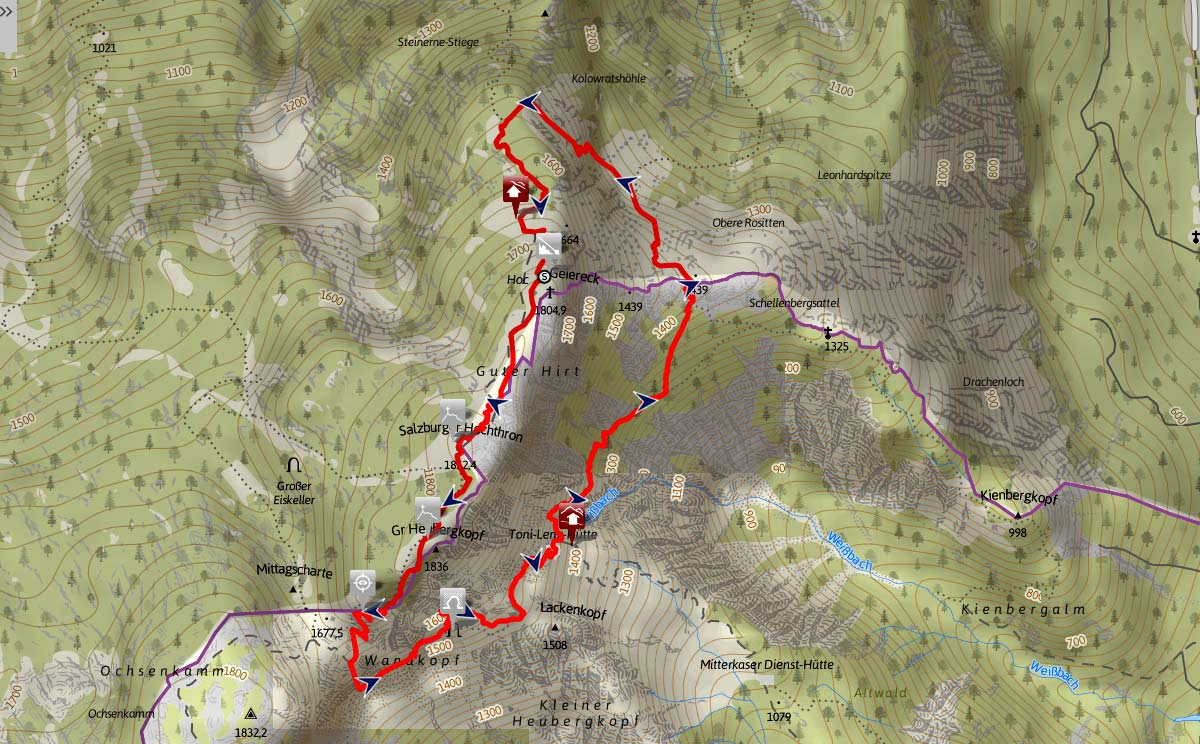 Thomas Eder Steig Route