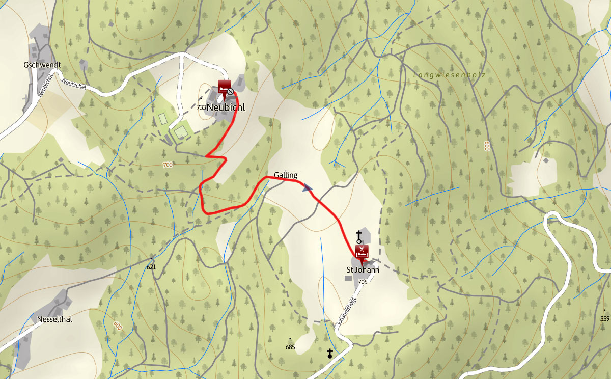 Topographie Pidinger Bienenweg
