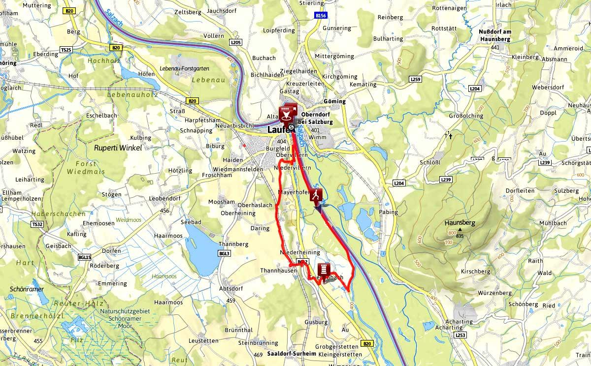 Schloss Triebnbach Wanderweg Laufen