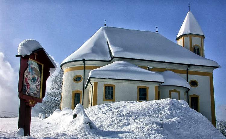 Wallfahrtskirche Maria Heimsuchung Ettenberg im Winter