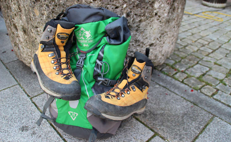 Auch Rucksack und Bergschuhe brauchen mal eine Pause vom Wandern
