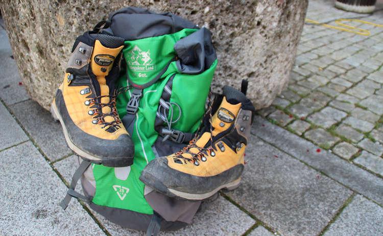 Wander Festival2015 Rucksack Schuhe