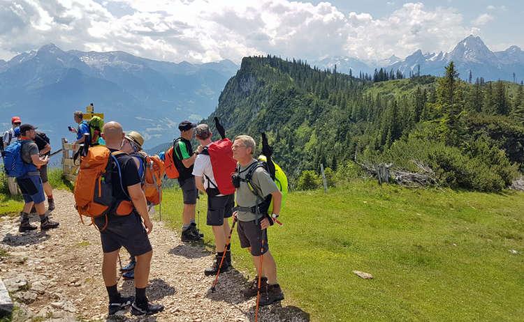 Wanderer Am Gatterl Untersberg Extrem Wander Festival