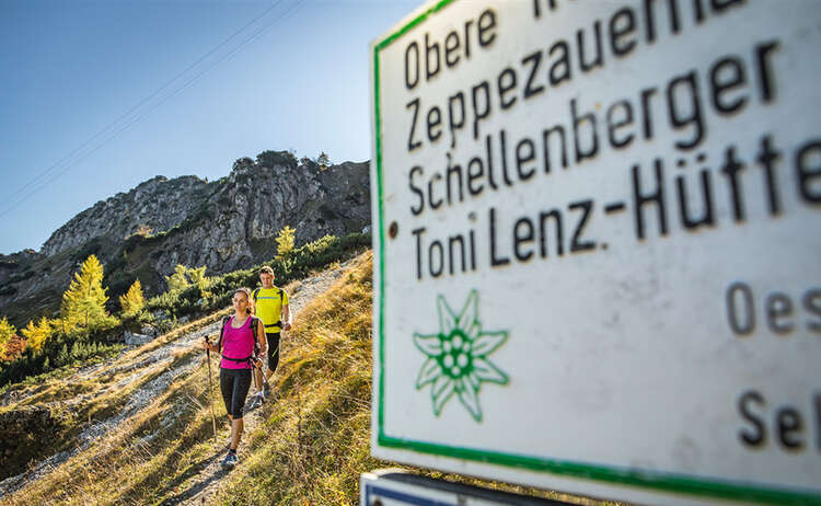 Wanderer am Untersberg