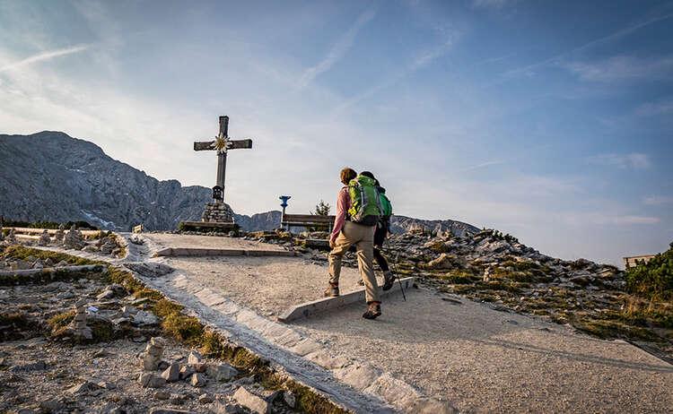 Ankunft auf dem Gipfel des Kehlsteins