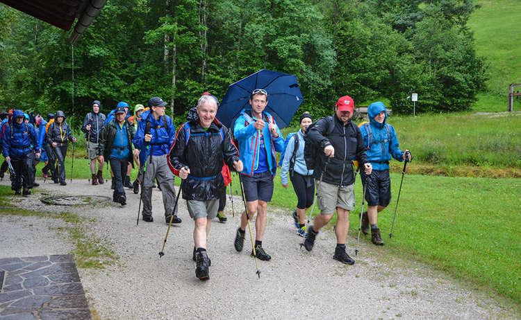 24 Stunden Watzmann alpin Wanderer in Ramsau