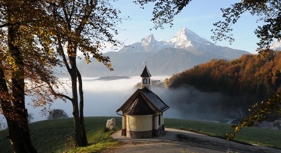 Watzmann Herbst Weinfeldkapelle Landingpage