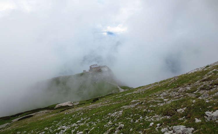 Watzmannhaus Nebel