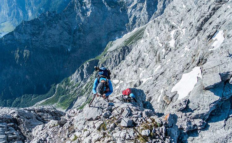 Kletterstelle auf der Watzmann-Überschreitung