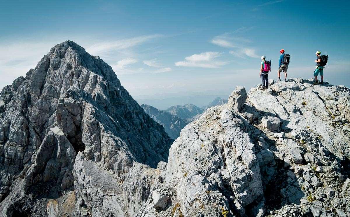 Klettersteigset Watzmann : Die watzmann Überschreitung spitzen