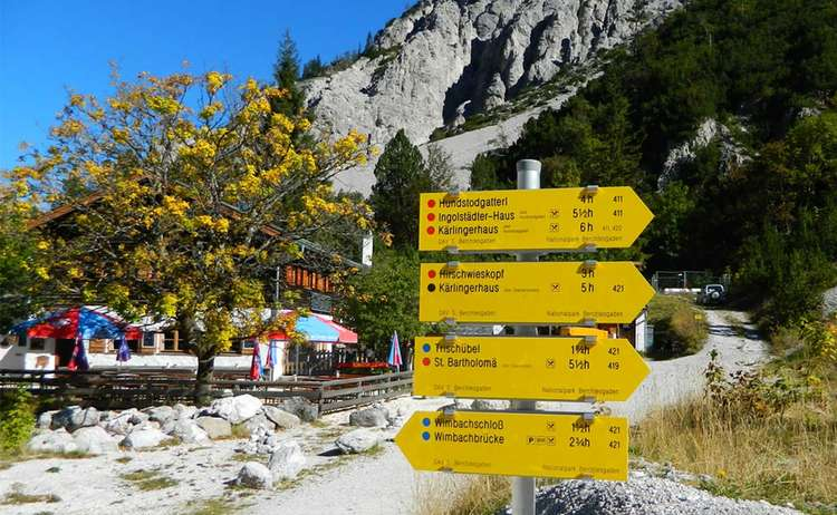Wanderungen und Bergtouren vom Talschluss des Wimbachgries